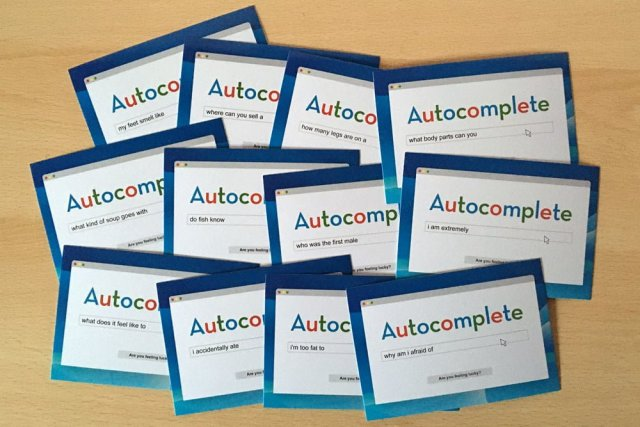 Autocomplete Cards, Image: Sophie Brown