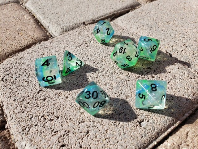Tabletop Review Unicorn Dice From Metallic Dice Games Geekmom