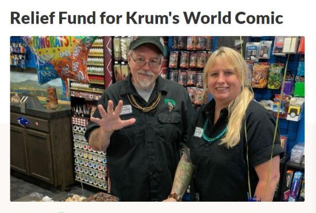 Relief for Krum's World Comics
