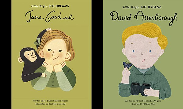 Little People, Big Dreams Jane Goodall and David Attenborough, Images Wide Eyed Editions