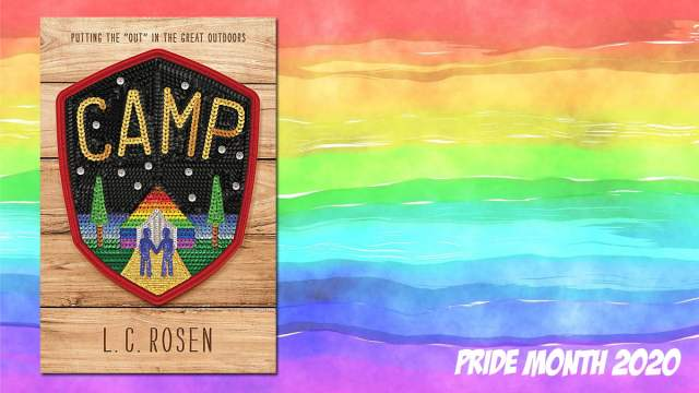 Pride Month Camp, Background Image by Prawny from Pixabay, Cover Image Little, Brown Books
