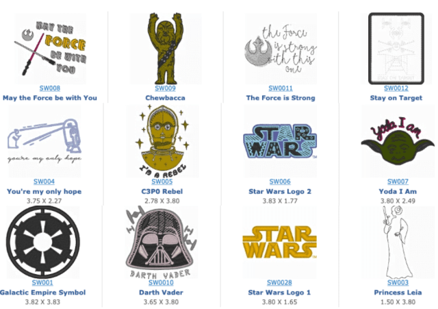 'Star Wars' Embroidery Designs \ Image: Brother