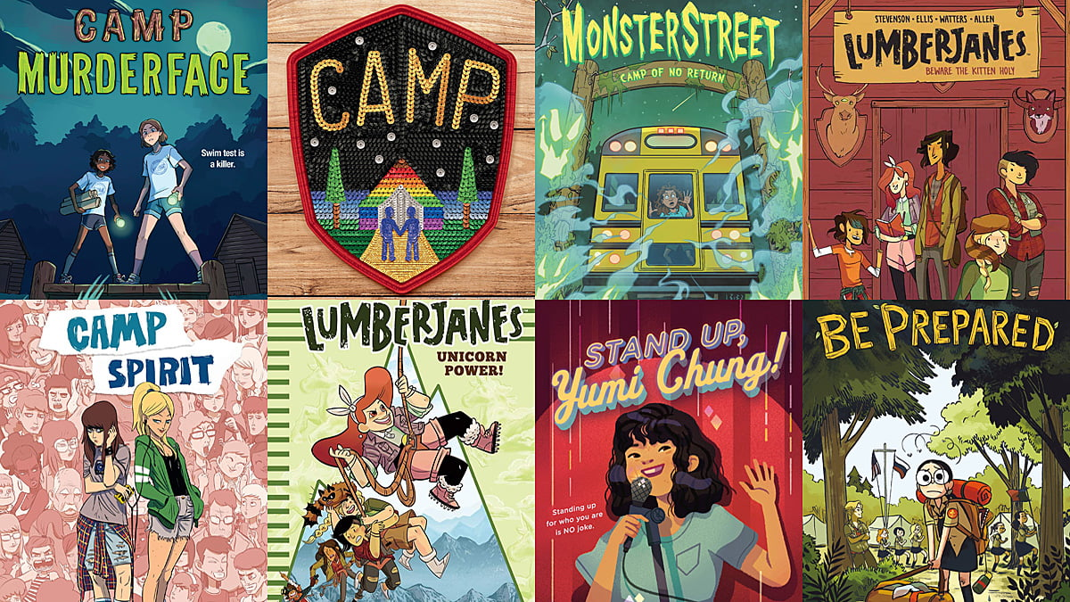 Summer Camp Reading Roundup, Images as Below
