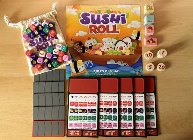 Sushi Roll Components, Image Sophie Brown