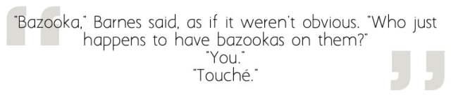Bazooka? Bazooka. Image Sophie Brown