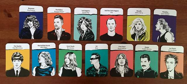 Example Cards from Each Band, Image Sophie Brown