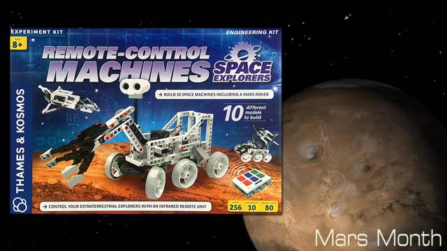 Remote Control Machines Space Explorers, Image Sophie Brown, Box Art Thames and Kosmos, Mars Image NASA