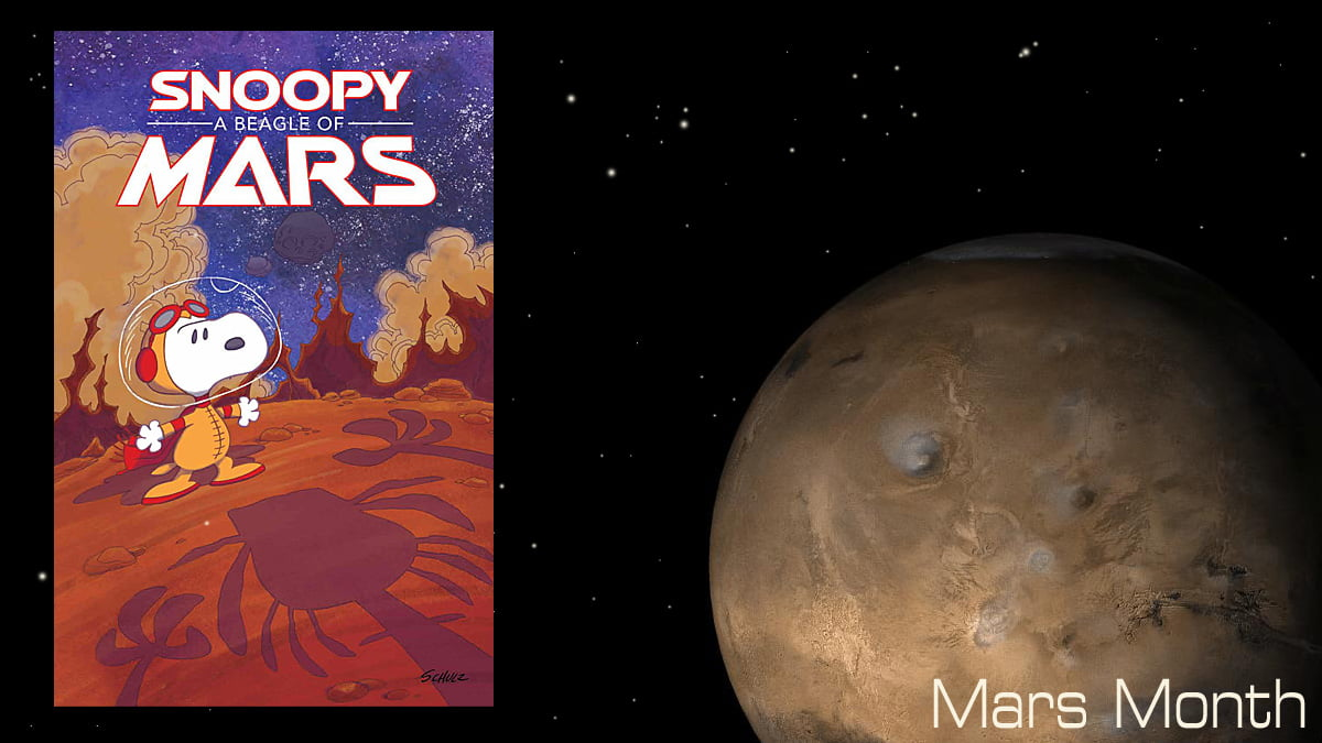 Snoopy A Beagle of Mars Cover Image Boom, Mars Image NASA