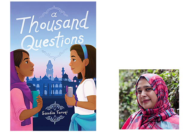 A Thousand Questions Cover Quill Tree Books, Author Image Saadia Faruqi