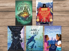 2020 Middle-Grade Books for Back to School, Background Image by Michael Schwarzenberger from Pixabay, Cover Images as Below
