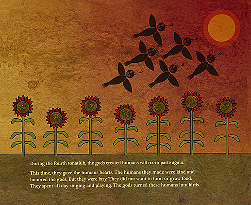 Feathered Serpent and the Five Suns Page Spread, Image Abrams Books for Young Readers
