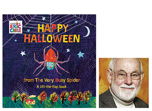 Happy Halloween from the Very Busy Spider, Cover Image Penguin, Author Image Eric Carle
