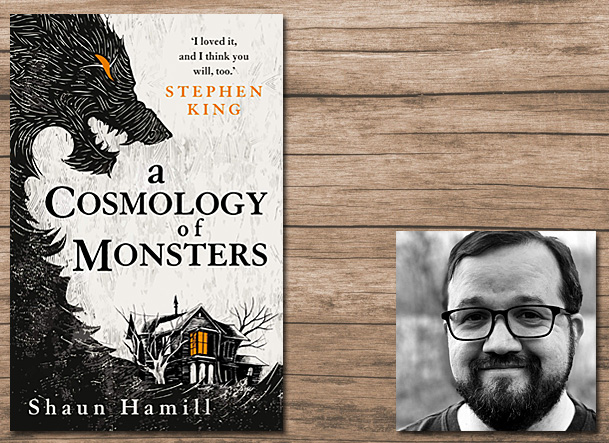 A Cosmology of Monsters Cover Image Titan, Author Image Rebekah H Hamill