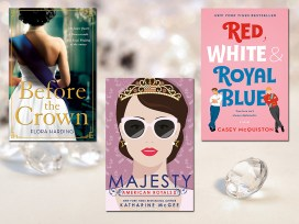 Books for The Crown, Background Image by Bruno Germany from Pixabay, Covers as Below