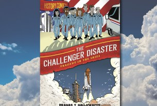 The Challenger Disaster Cover, First Second Books, Background Image by Dimitris Vetsikas from Pixabay