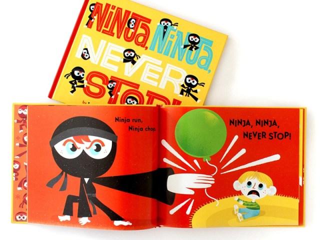 children's book Ninja Ninja Never Stop
