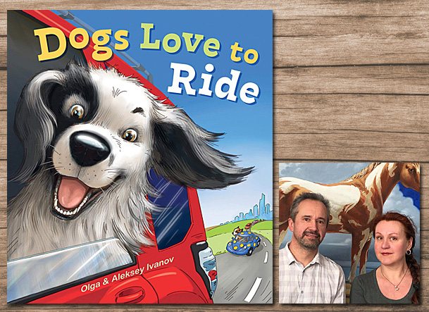 Dogs Love to Ride Cover Image Gibbs Smith