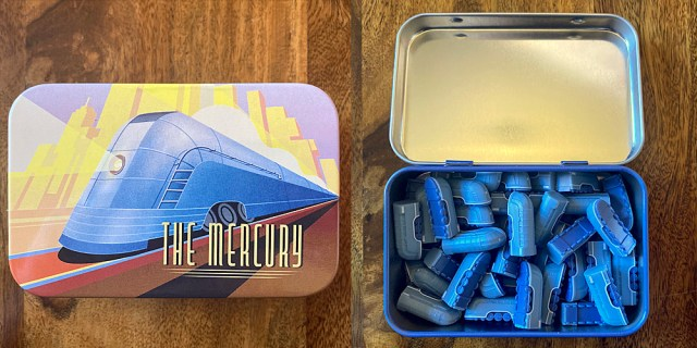 The Mercury Storage Tin and Trains, Images Sophie Brown