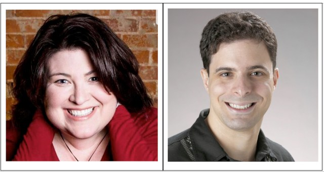 podcasters Andie Redwine and Larry Brenner