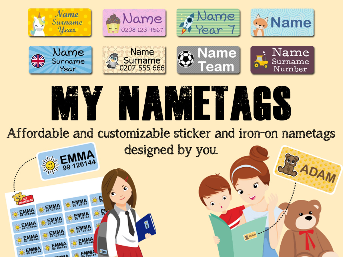My Nametags Header, Graphics by My Nametags