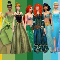 Desafio Princesas da Disney The sims 4