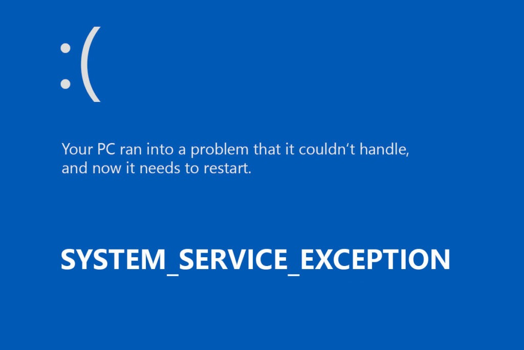 Fix SYSTEM_SERVICE_EXCEPTION Error in Windows 10. 8.1 and 8