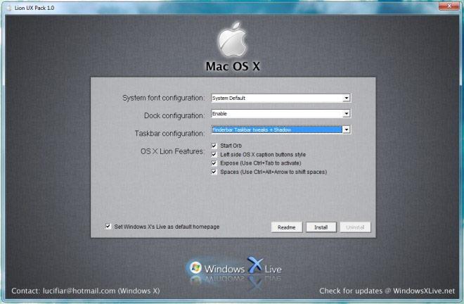 Transform Windows 7 into Mac 10 7 OSX Lion