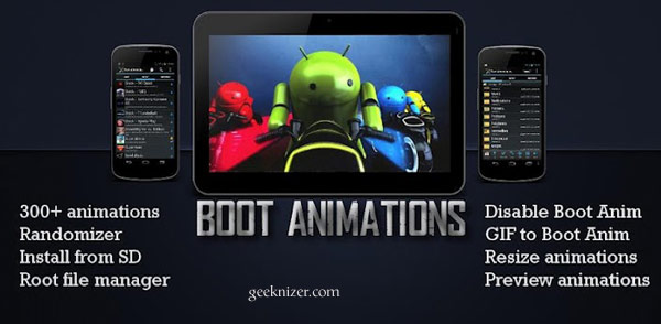 Create, Change, Download Android Boot Animation Easily