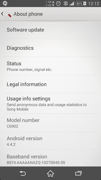 Root, Upgrade to Stock 4 4 2 KitKat on Xperia Z1 [C6902, c6903]
