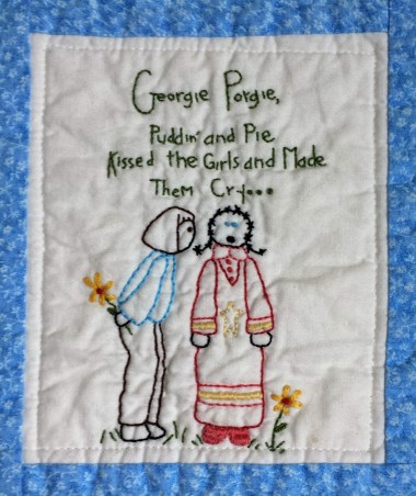 Nursery Rhyme Baby Girl Quilt