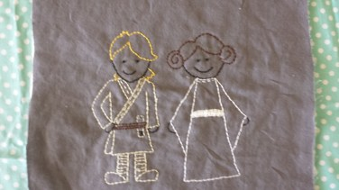 Star Wars: Luke Skywalker and Princess Leia Free Hand Embroidery Pattern