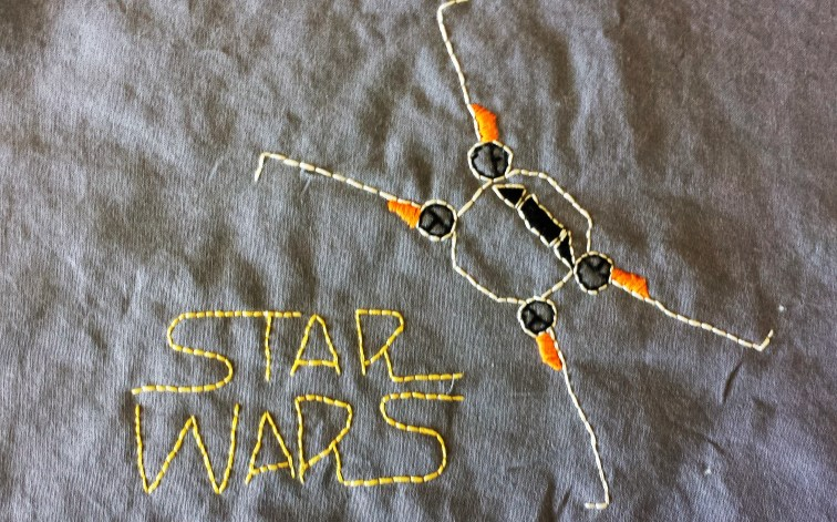 Star Wars: X-Wing Free Embroidery Pattern