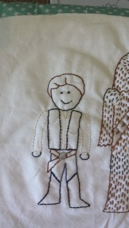 Star Wars: Han Solo and Chewbacca Free Hand Embroidery Pattern