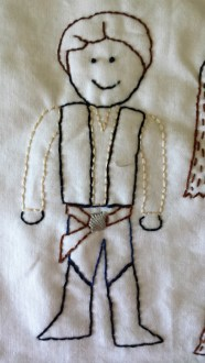 Star Wars: Han Solo Free Embroidery Pattern