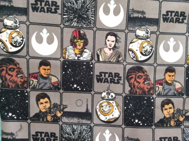 Star Wars The Force Awakens quilt fabric