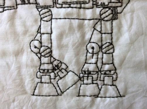 Star Wars AT-AT Walker hand embroidery free printable