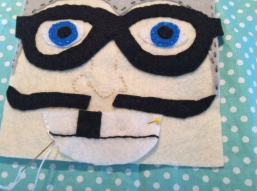 The making of an Aquabat Tooth Fairy Pillow!