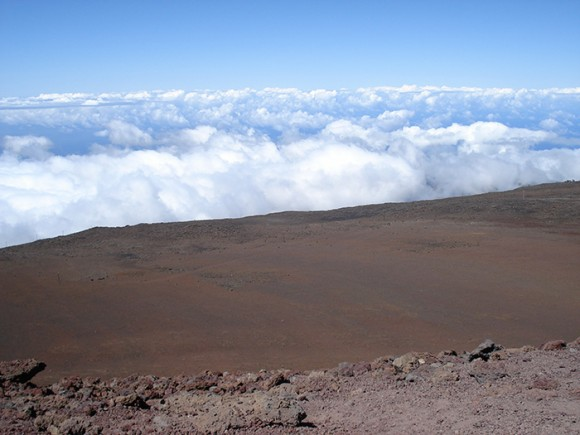 The, seemingly, barren landscape of Haleakala