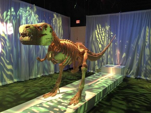 """""""T-Rex"""" by Nathan Sawaya"""