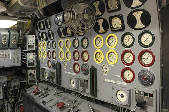 Read-out dials aboard USS Growler