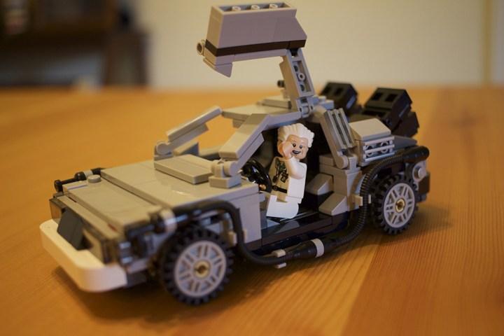 Up close with Doc & the DeLorean.