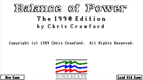 Balance of Power: 1990 Edition title screen