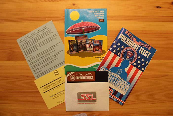 President Elect - 1988 Edition, box contents.