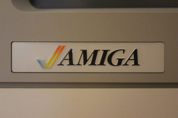 Amiga logo on the 1080 monitor.