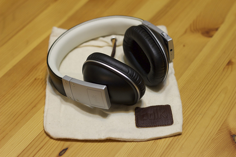 Polk Audio's Buckle headphones, and carrying bag.