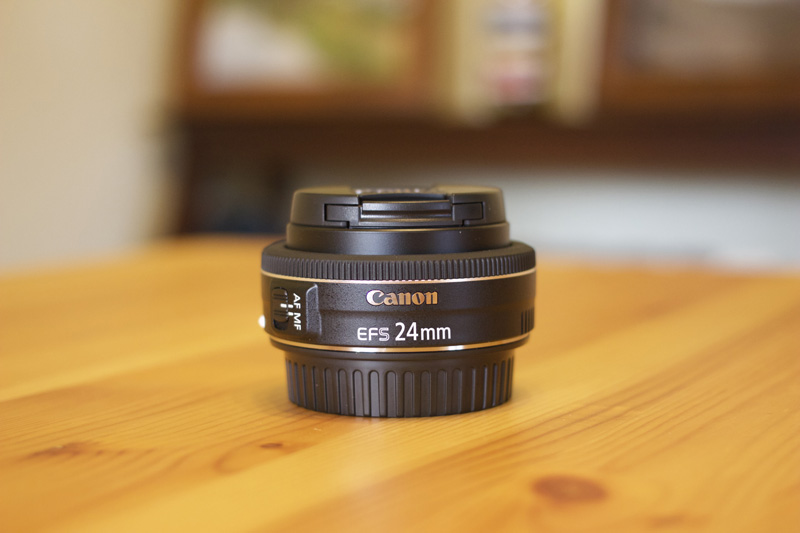 The Canon EF-S 24mm f/2.8 pancake lens.