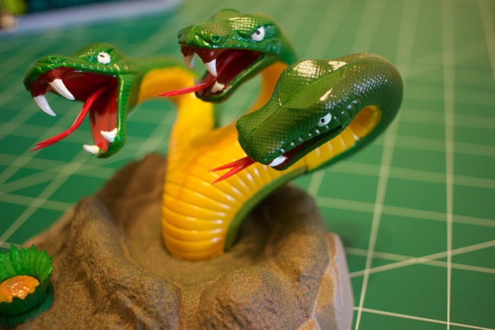 "The 3-headed space serpent from AMT's ""Mr. Spock"" model kit."