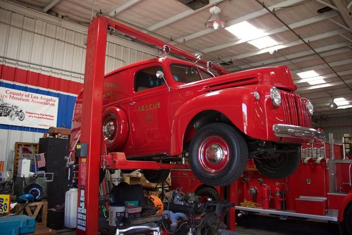 "A 40's Ford 'Rescue Wagon"" restomod."