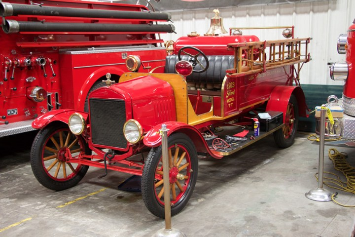 A 1924 American-LaFrance Ford Model TT fire engine.