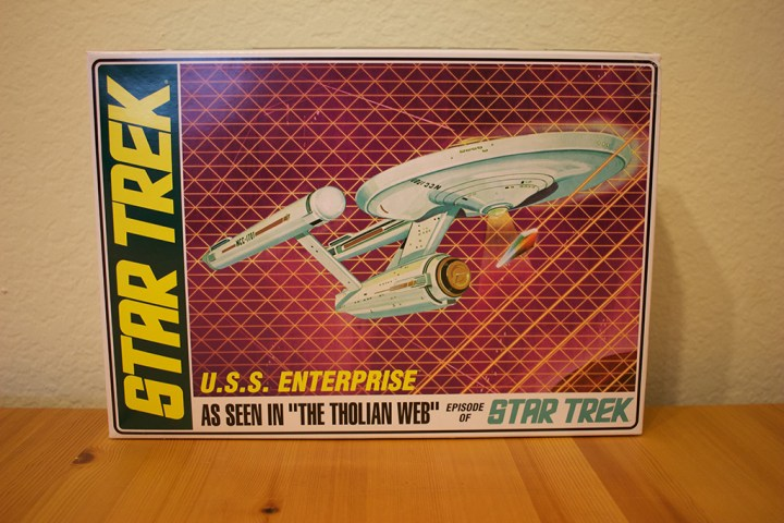 "AMT's USS Enterprise model, from ""The Tholian Web"" episode."
